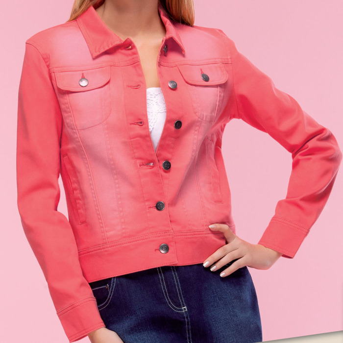 Women's Jeans Jacket (peach)